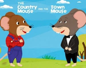 The Town Mouse and the Country Mouse - an Aesop's Fable at LELB Society to practice vocabulary and listening