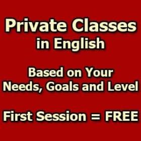 Private Classes in English LELB Society